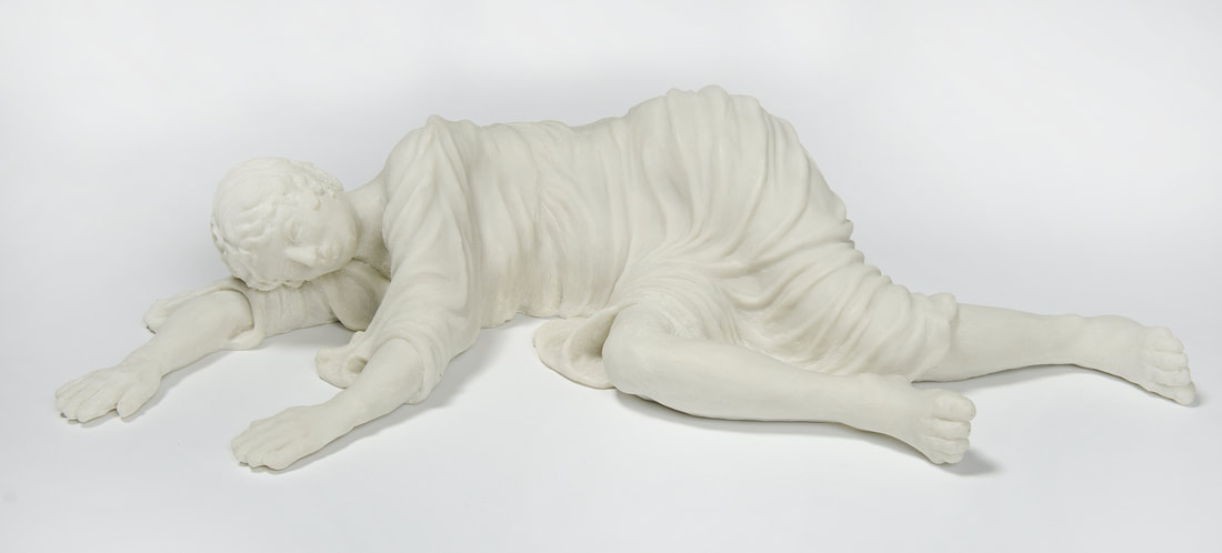 LUCINA is a reclining draped female figure with arms and legs extended.
